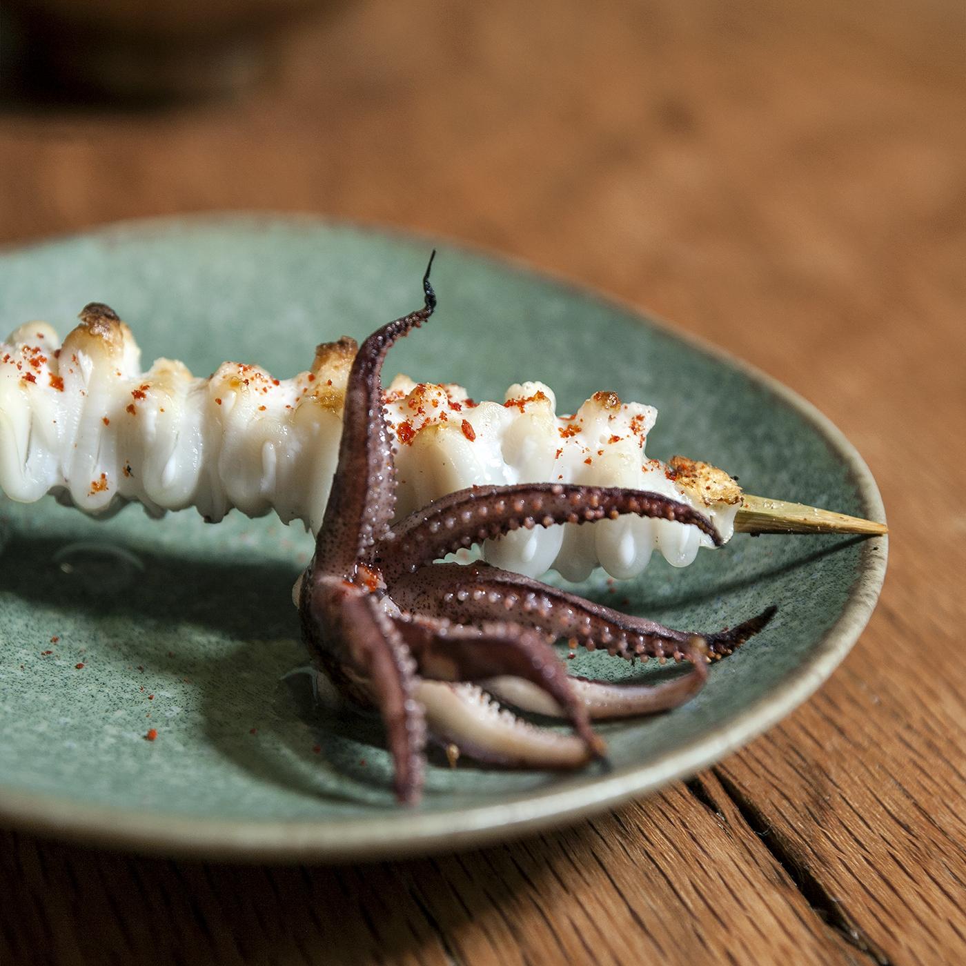 Onsen squid skewer