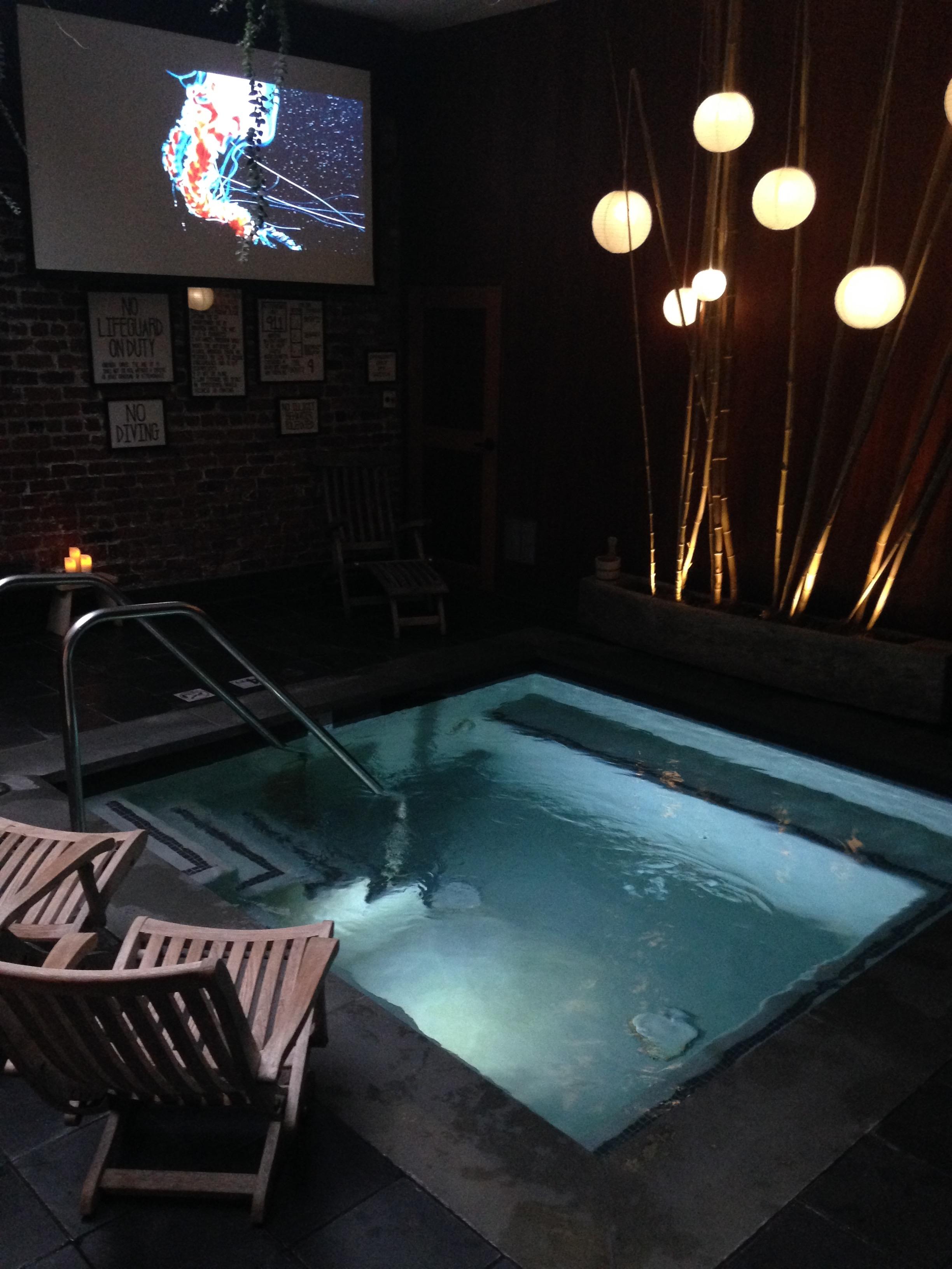 Movie Night at Onsen communal bathhouse
