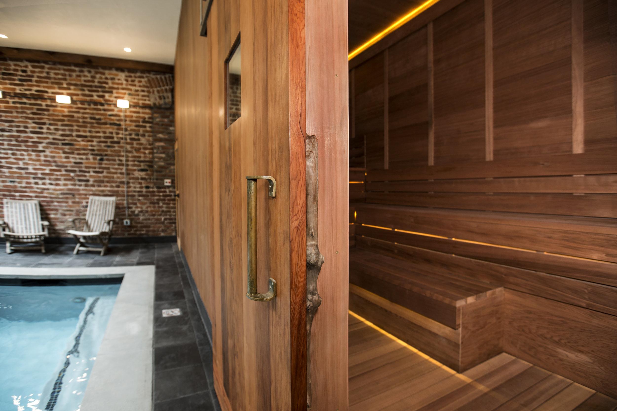 Sauna and Soaking pool at Onsen