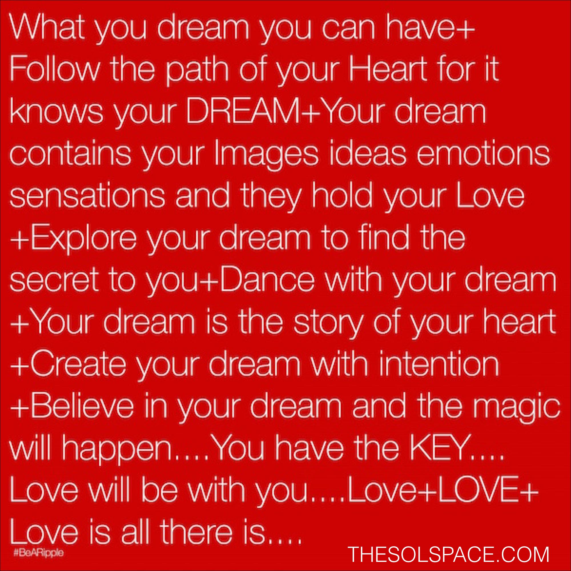 #BeARipple..DREAM @theSOLspace