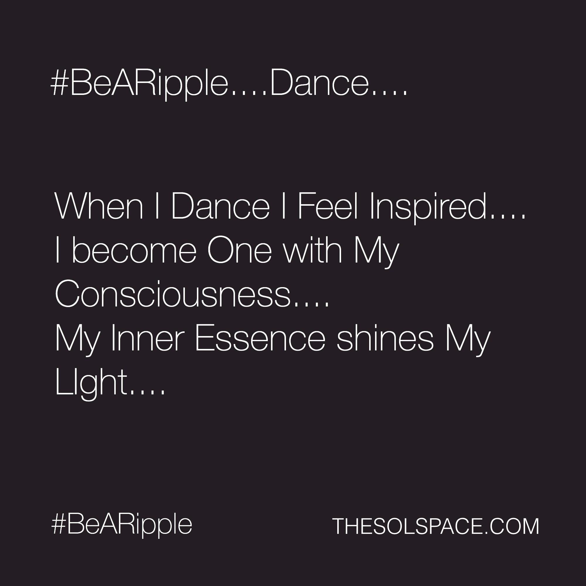 #BeARipple..DANCE...@theSOLspace