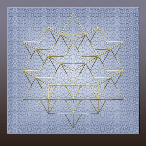 Geometric Universe 64 Tetrahedron #theSOLspace SOL-Art © All Rights Reserved Sacred Geometry Art