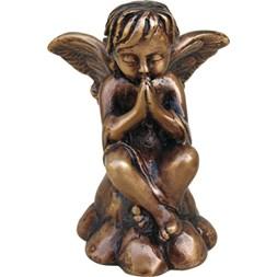 Bronseengel gravstein dekor