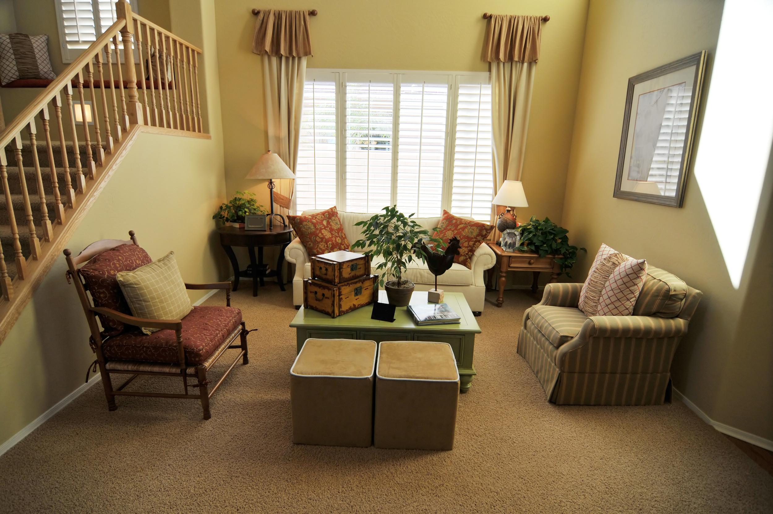Living Room full height shutters