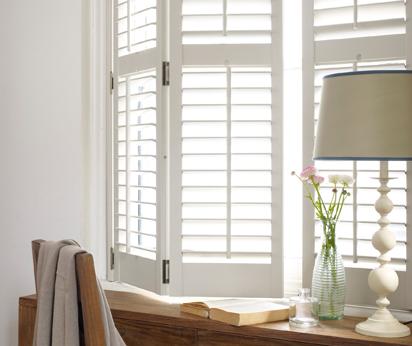 White folding shutters Poole