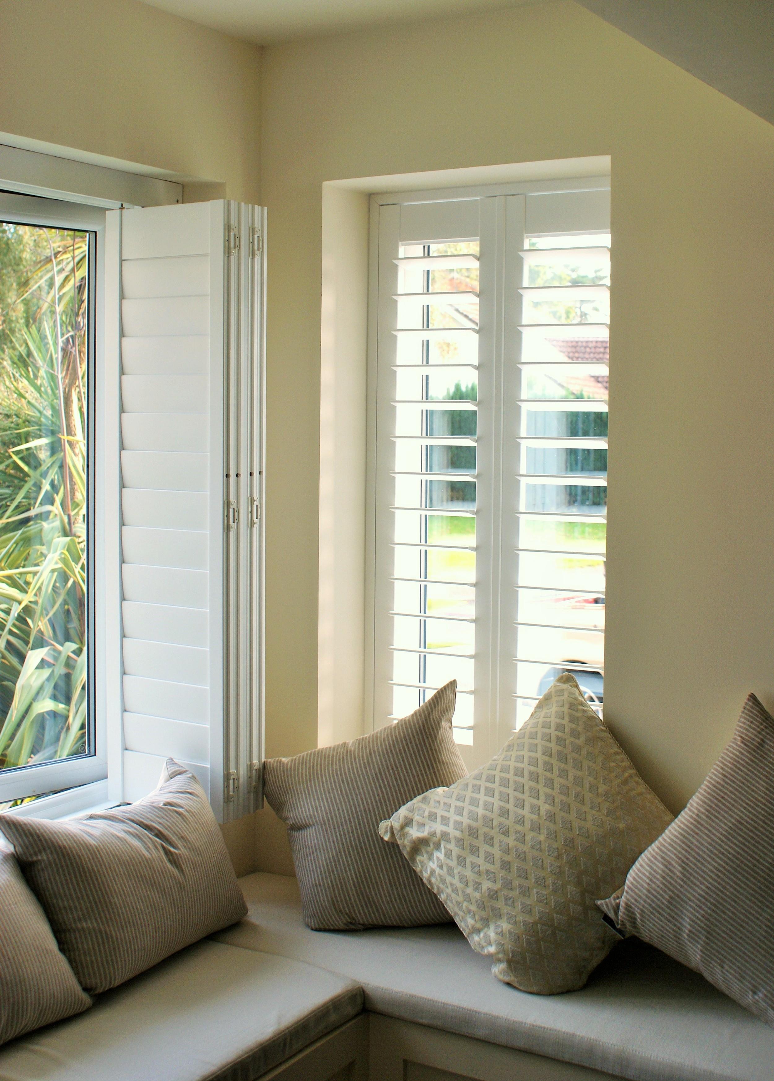 Superb  bay window seat with window shutters Verwood Bournemouth