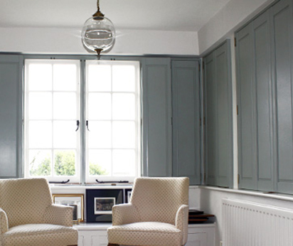 solid interior panel shutters Southampton