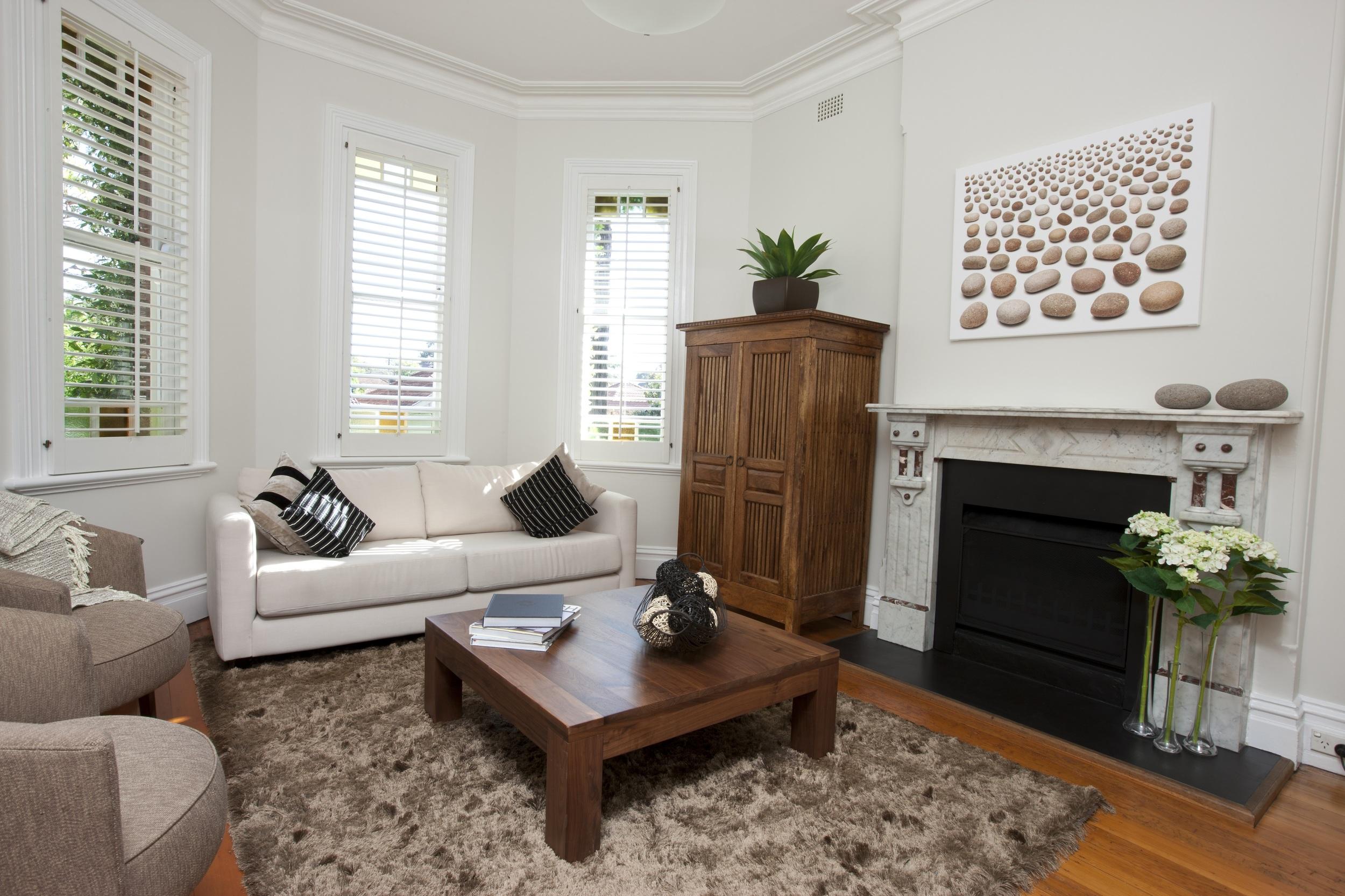 Living room shutters Southampton