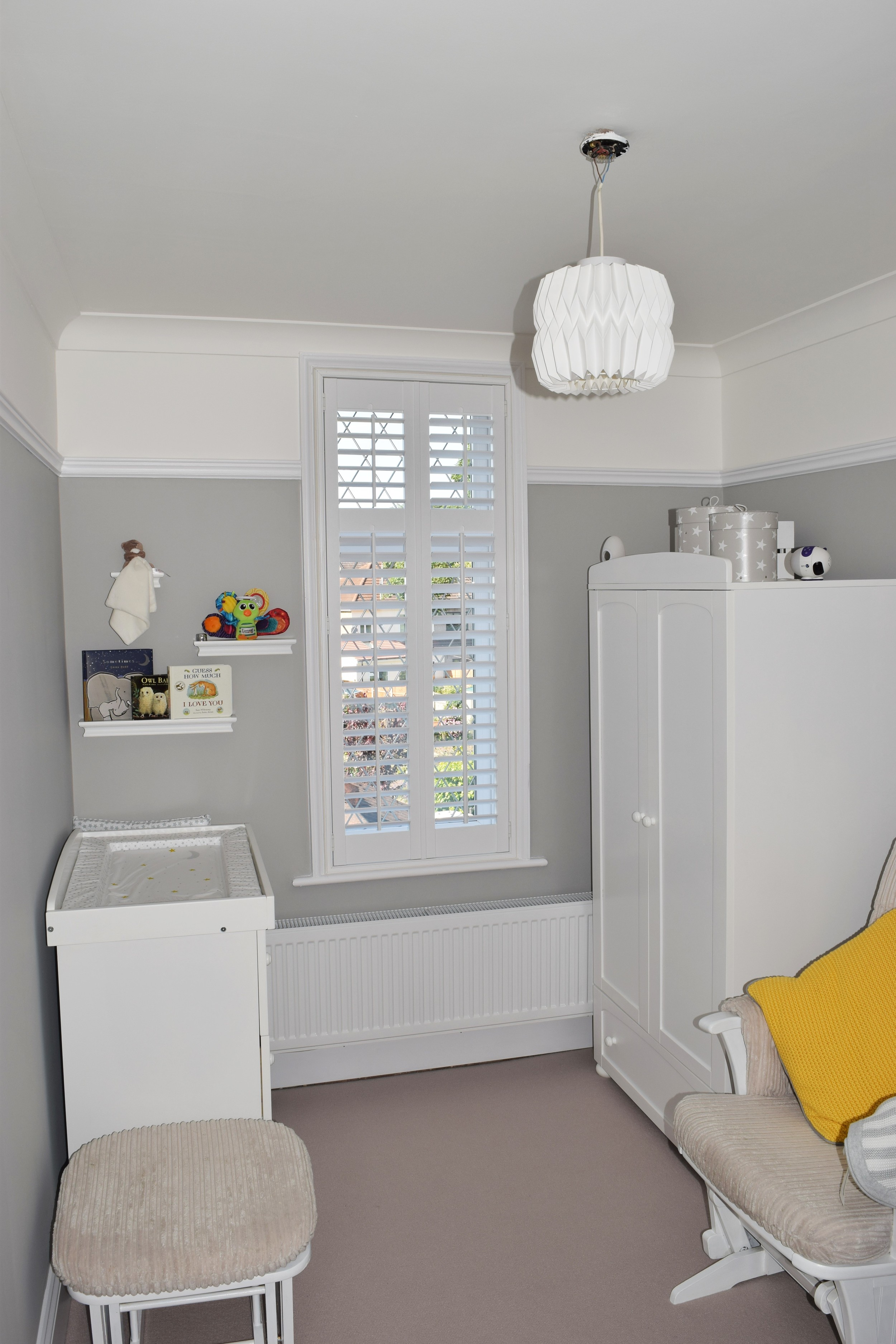 Wooden interior shutters children's room Dorset Hampshire