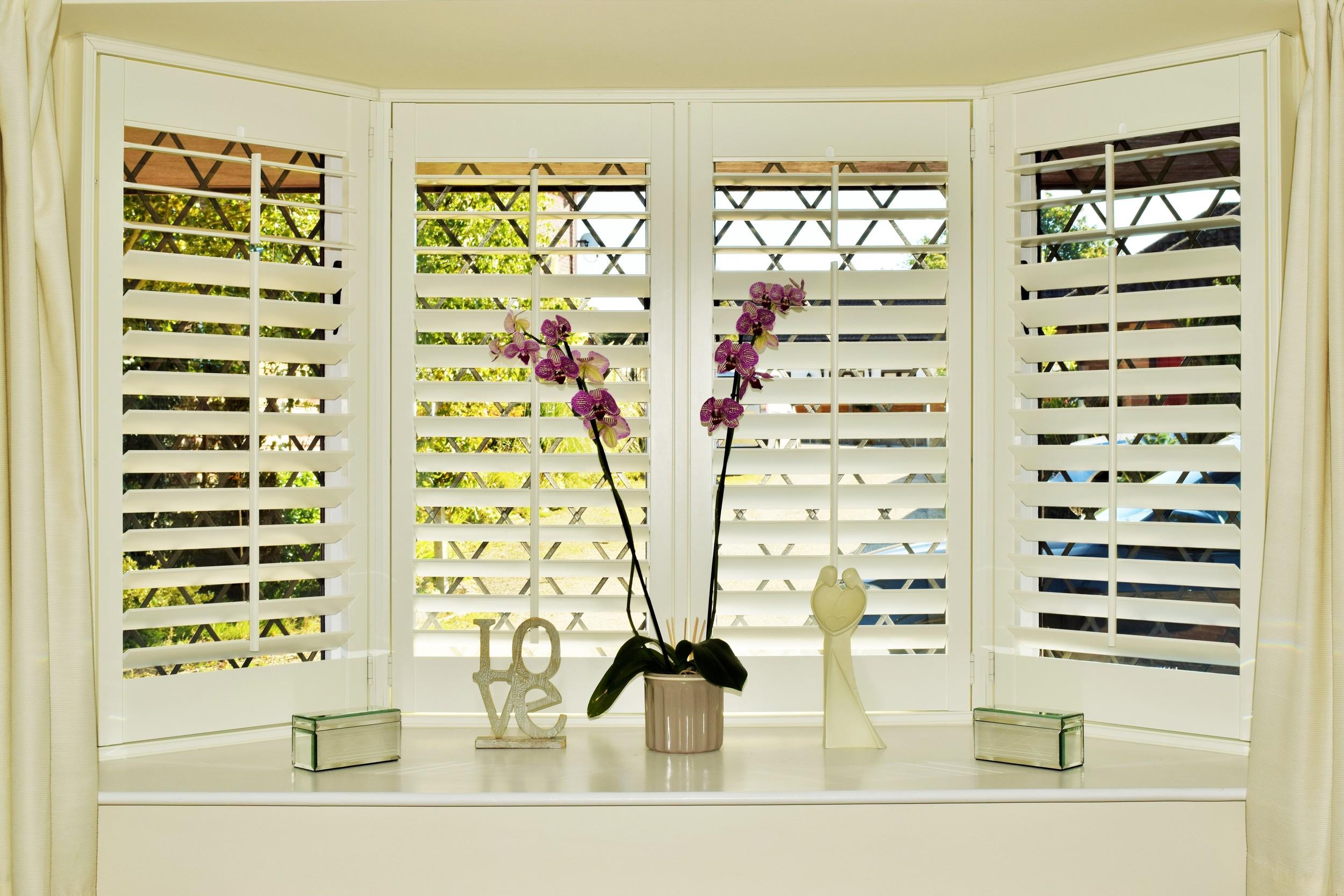 Bay window shutters Dorset