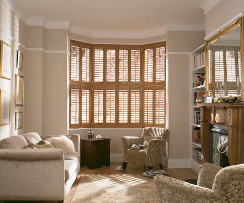 Wooden interior shutters Poole