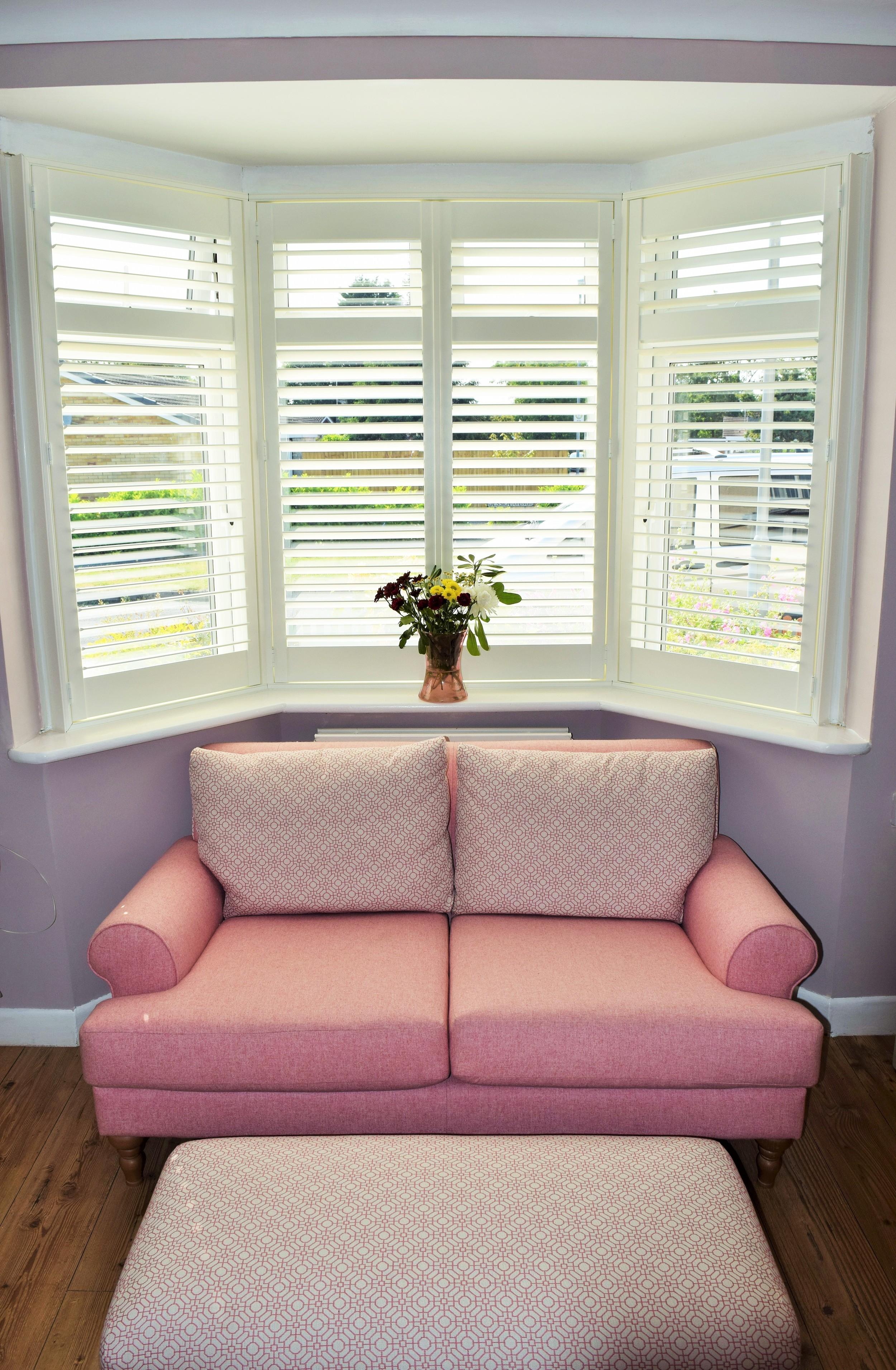 interior bay window shutters Verwood Bournemouth