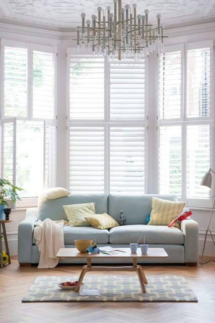 Plantation shutters for bay windows Bournemouth Poole Christchurch Ringwood Wimborne New forest