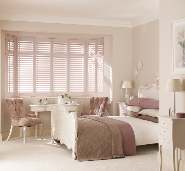 Wooden Bay window blinds Bournemouth Christchurch Poole