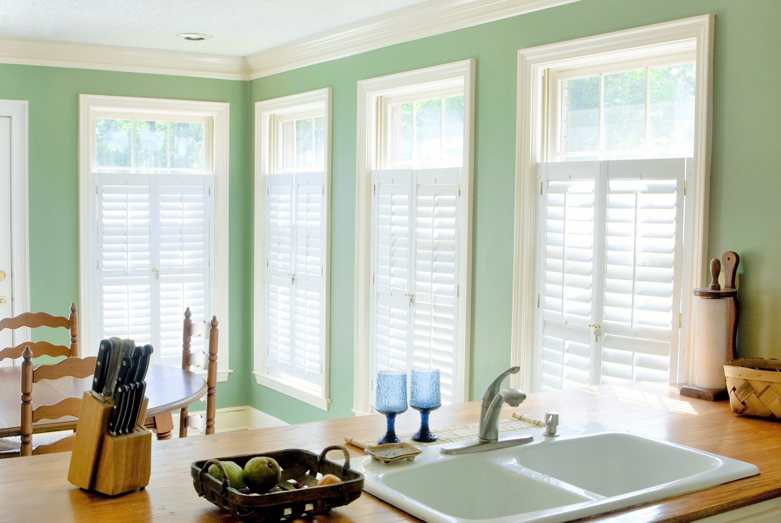 Cafe style plantation shutters Christchurch