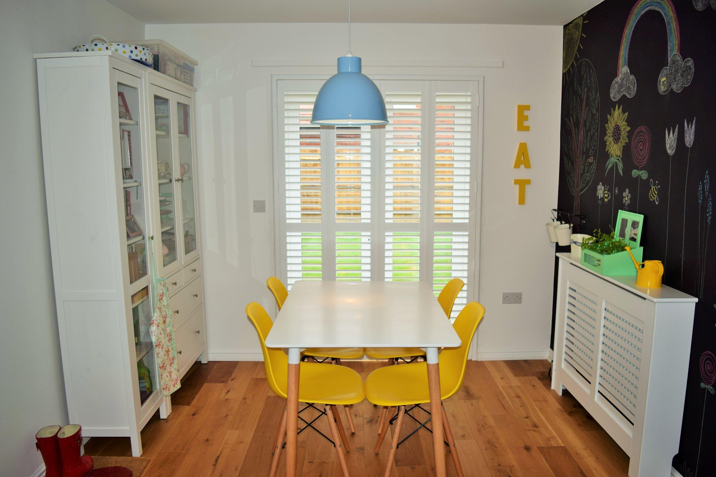 Full height patio door interior shutters Wimborne