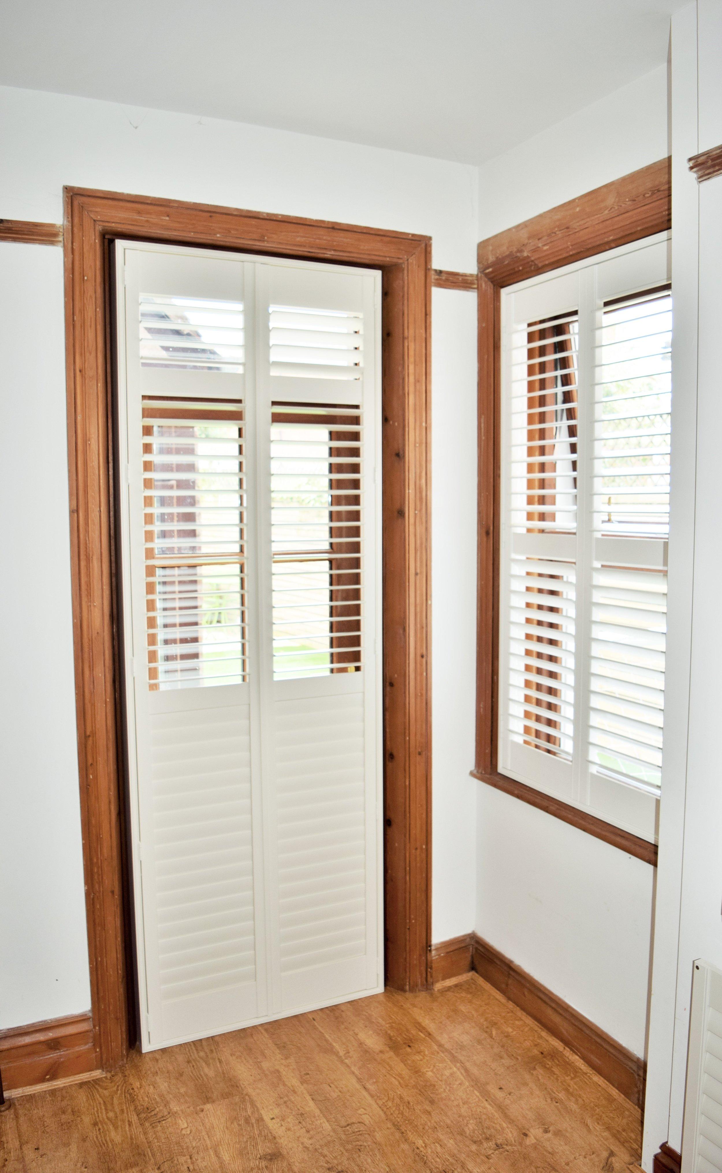 Patio doors plantation shutters Christchurch Bournemouth Poole Dorset.JPG