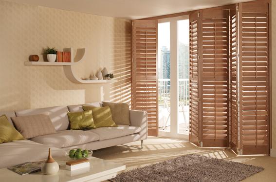 wooden plantation shutters patio doors
