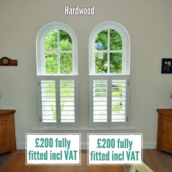 Hardwood plantation shutters cafe style Canford Cliffs Poole Dorset Hampshire.jpg