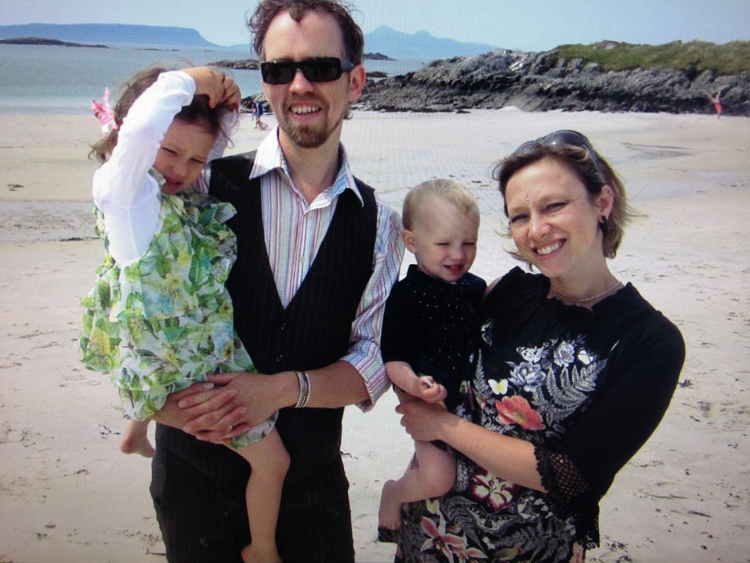 Kati with husband Dave and children Matilda and Seraphina
