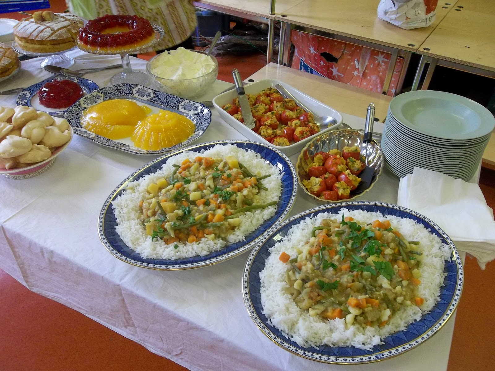 The 'First Class' food cooked by pupils at Blaise Primary School with Travelling Kitchen