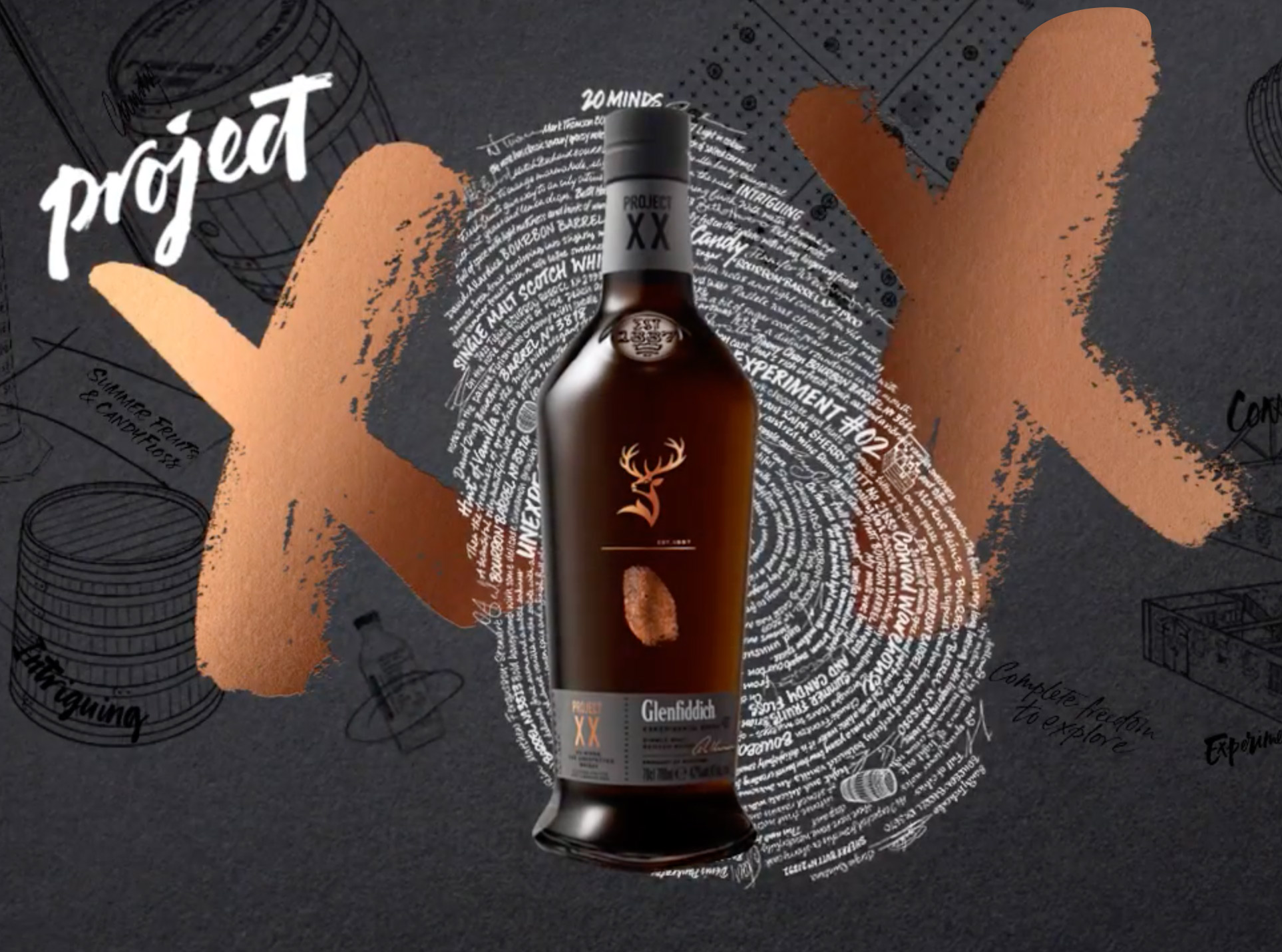 20 of the whisky industry's most exceptional minds came together to create Project XX, a truly unique, pioneering single malt expression. We created lots of moving image content to build excitement around the launch of this innovative new whisky. -