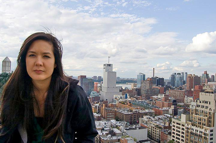A disgruntled Jamie Lu, visiting New York.