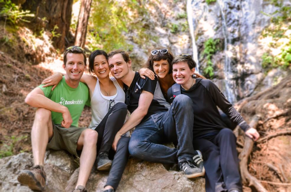 With my good friends in San Francisco on a weekend outing in nature.