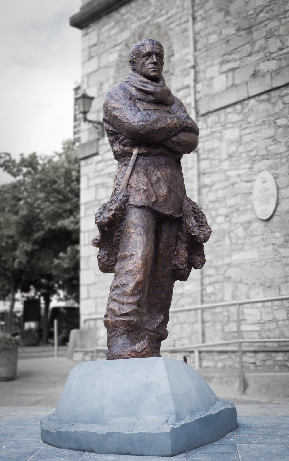 Mark Richards sculptor Ernest Shackleton statue commission, Kildare