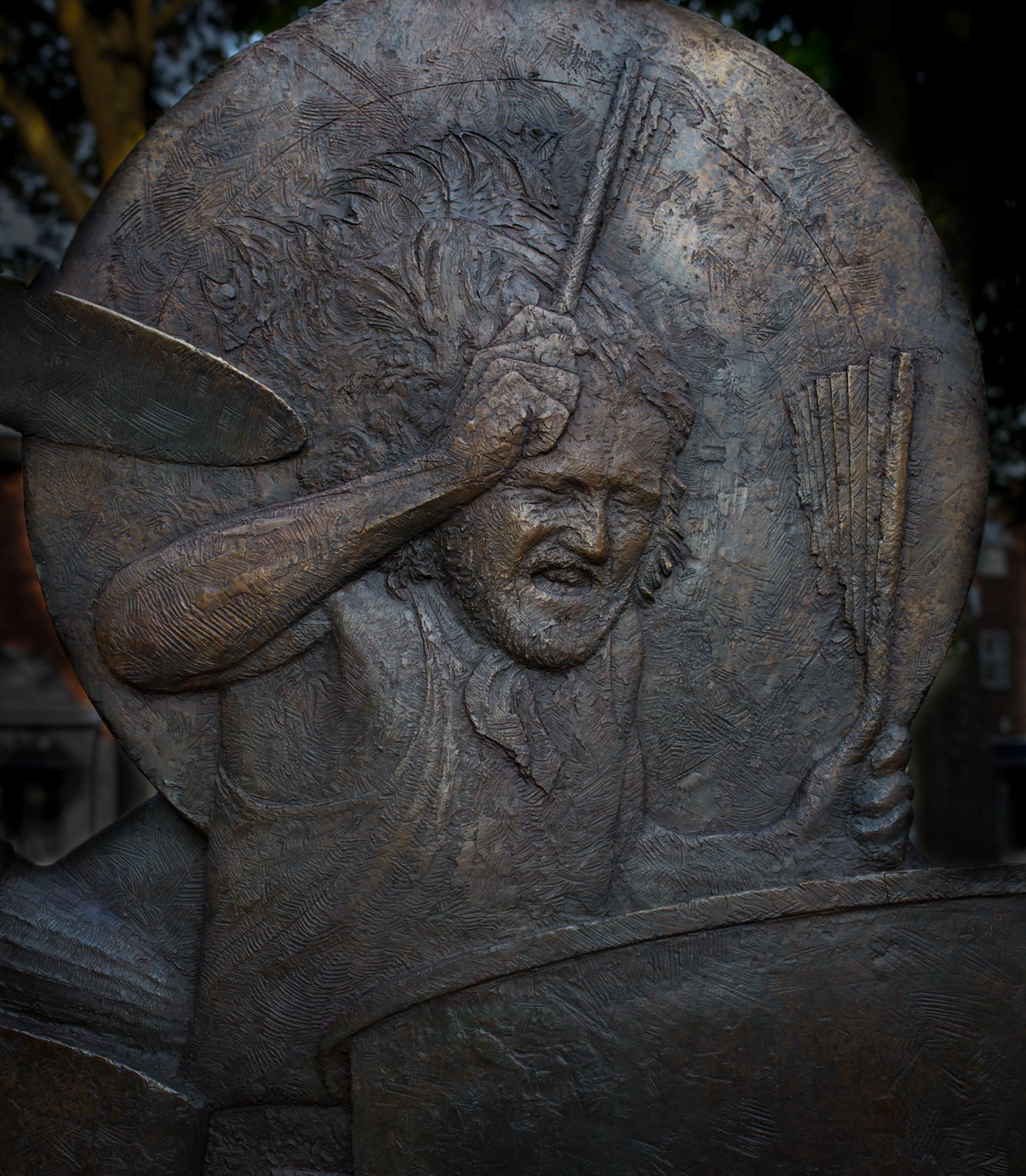 John Bonham memorial sculpture - 2018 Detail