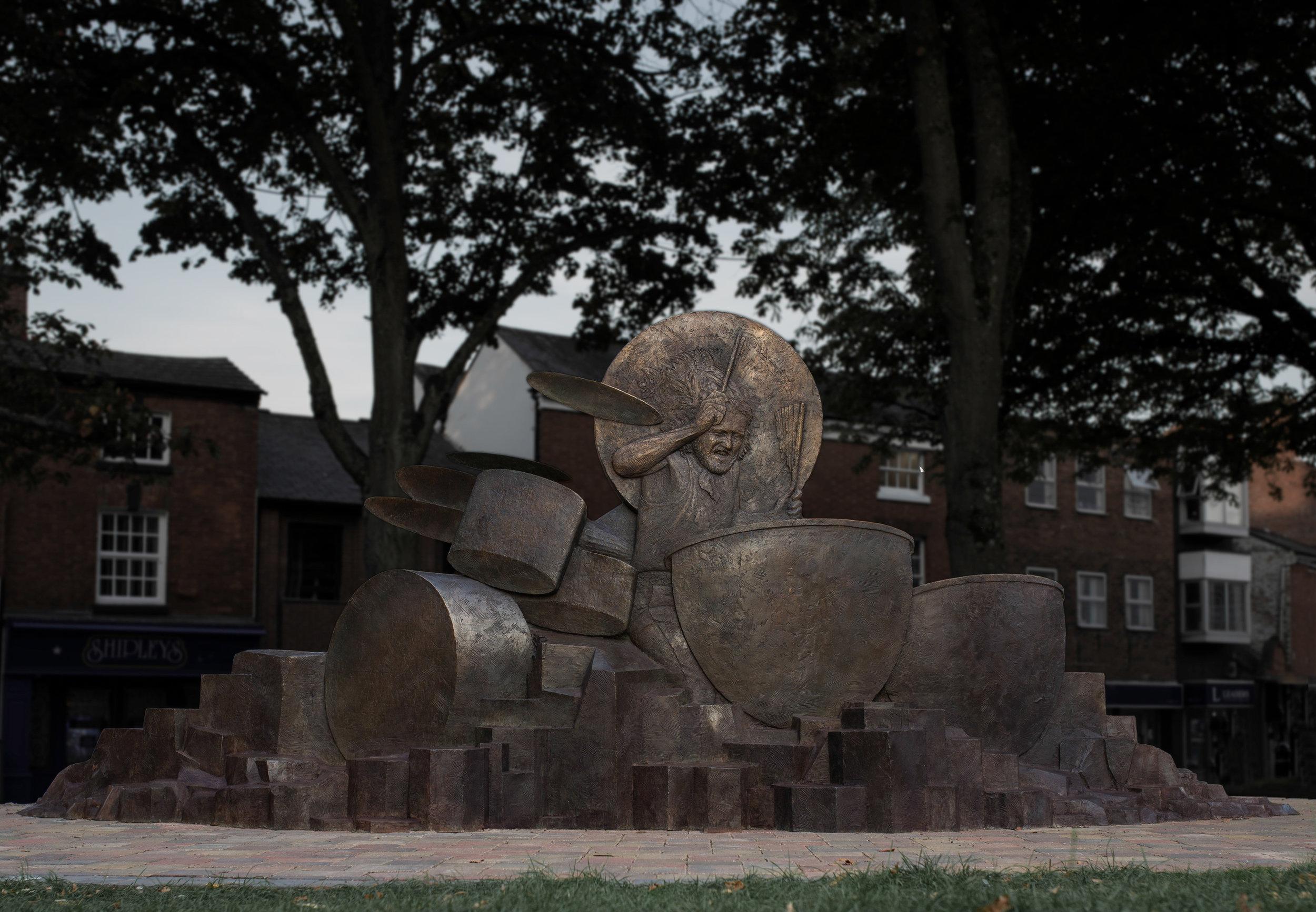 John Bonham - relief sculpture. 2018