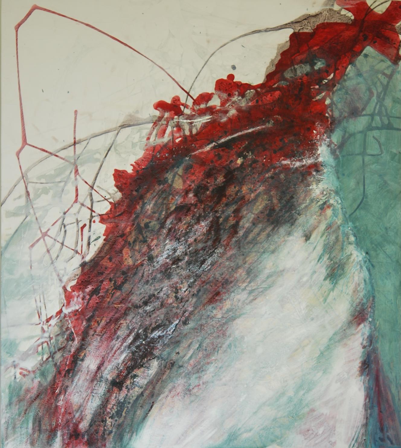 De plumes et d'eau, 115 x 122cm, 2010.