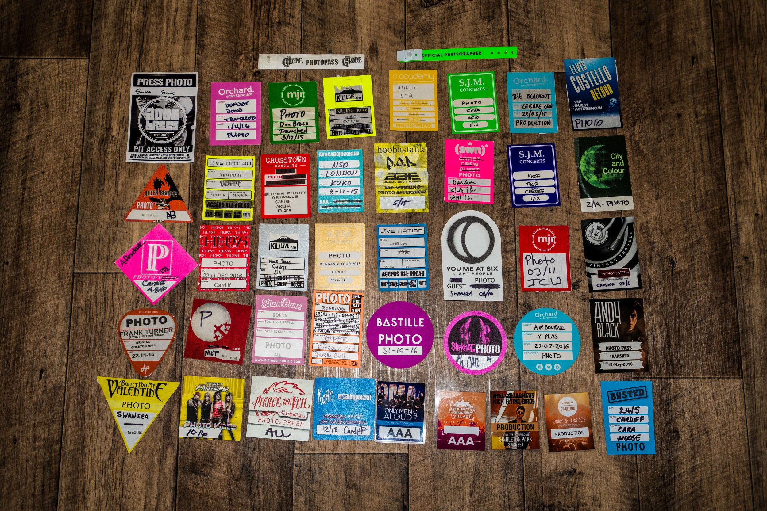 My photo pass collection