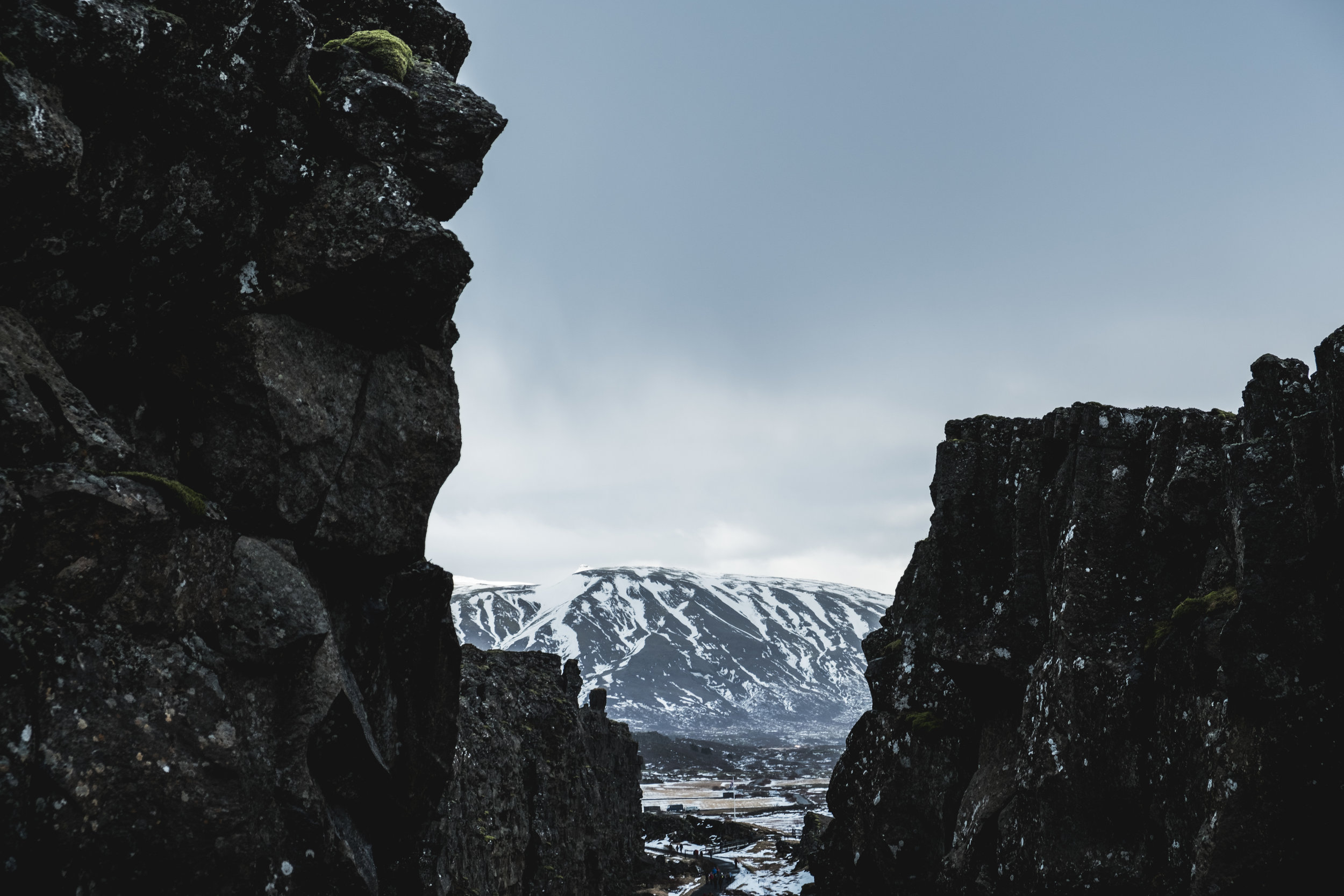 Pingvellir. Our first stop. Standing between North America and Eurasia.