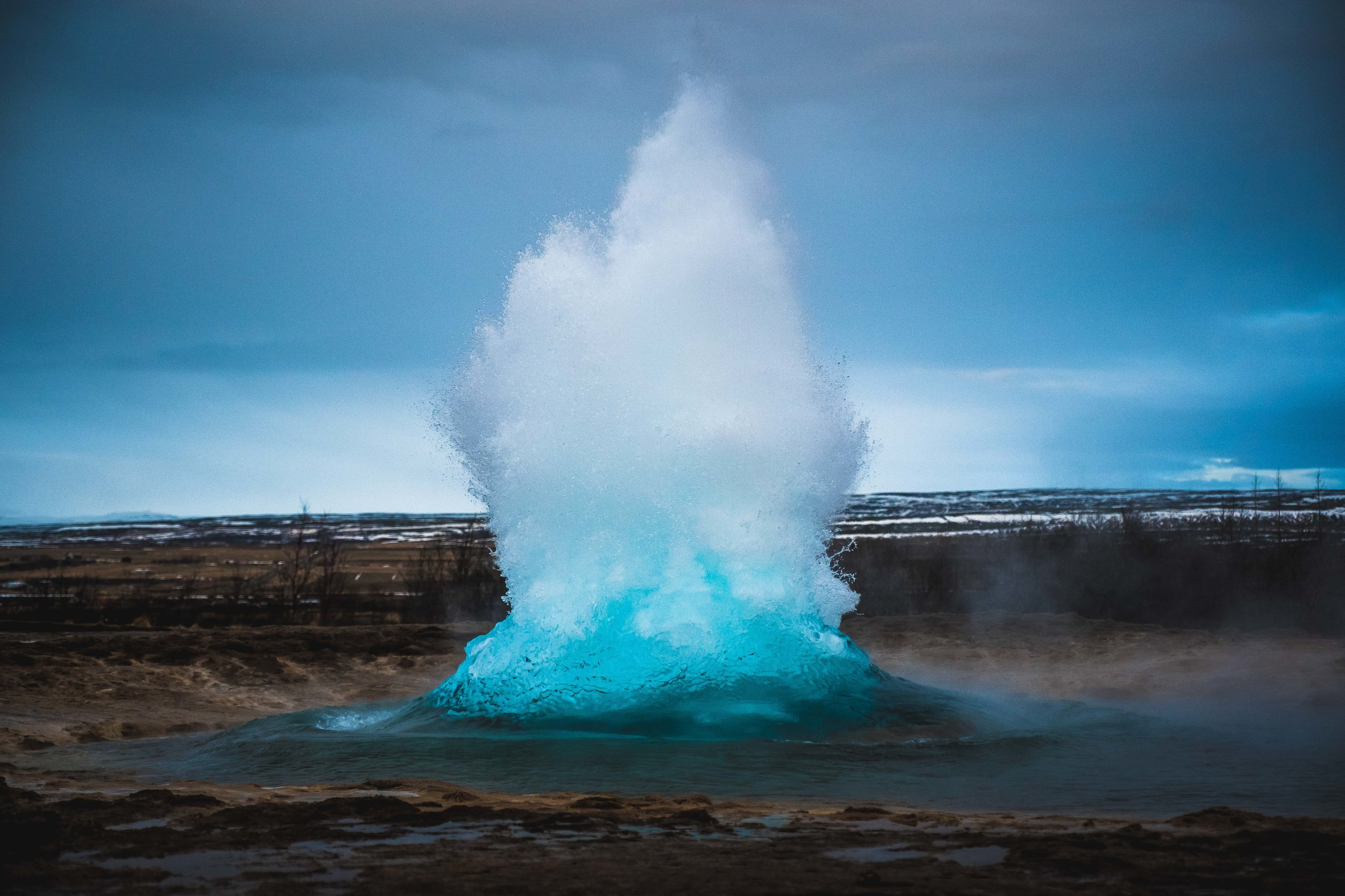 Geysir. I ended up selling this photo to a German professor who was writing a book about Thermodynamics, thus becoming a internationally published photographer whilst in Iceland. Sounds even cooler every time i say it...