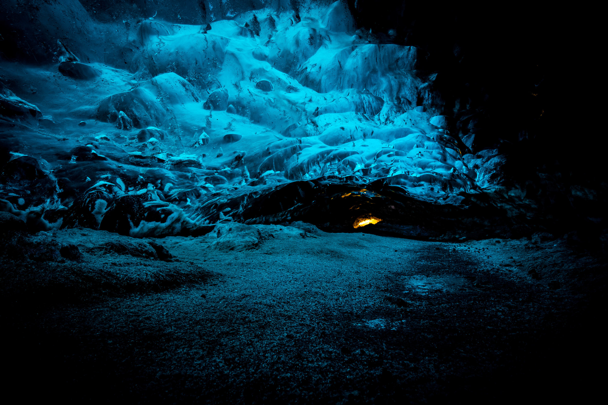 Inside Vatnajokull Glacier. Even though we hiked a glacier the day before, I still had no idea how beautiful the inside of a glacier was...
