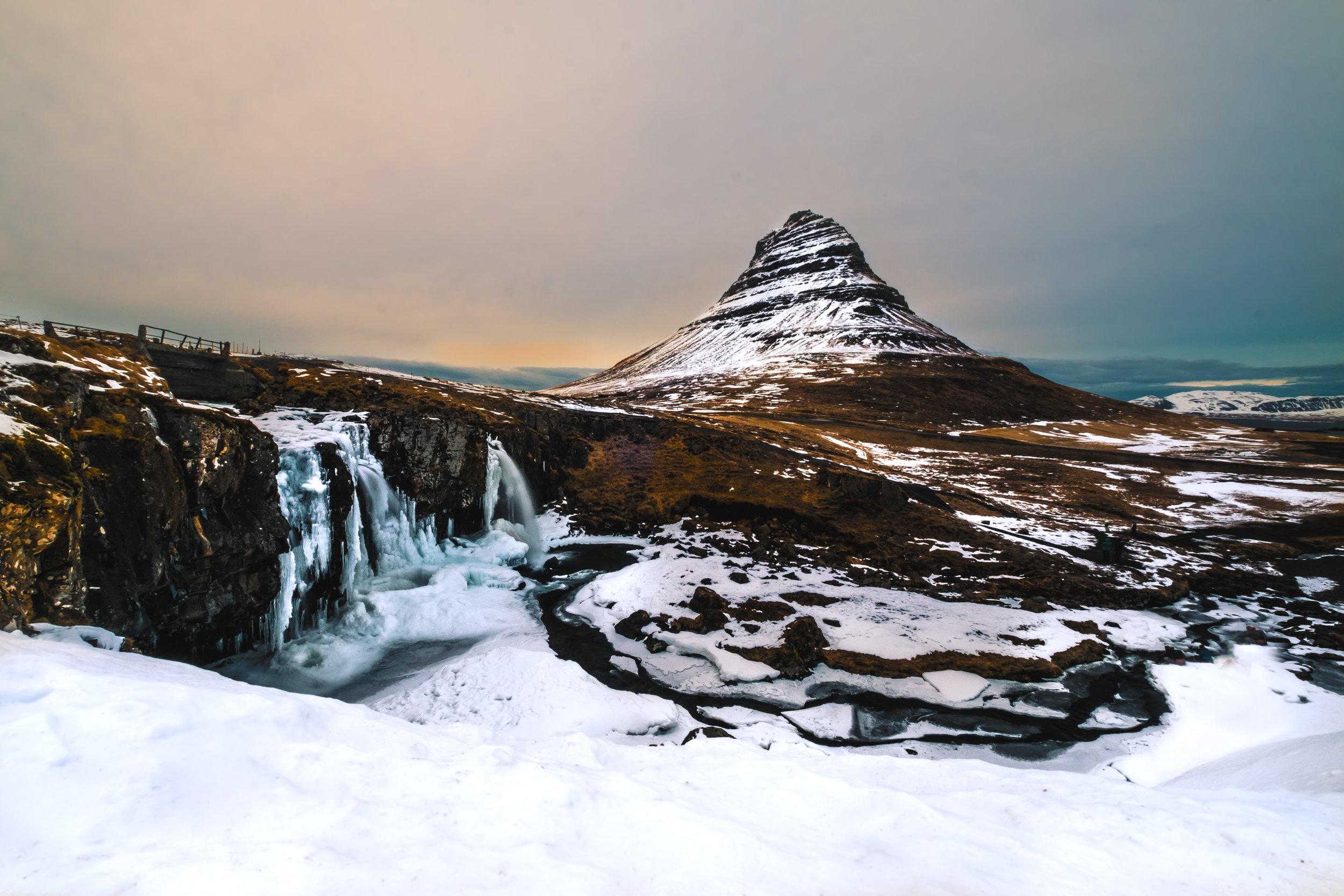 6 hours after leaving Akureyri, we arrived at the final stop on the trip; Kirkjufellfoss. Since I'd seen so many great photos of this place before coming, this was the first place i put on my map. A great way to end a great journey...