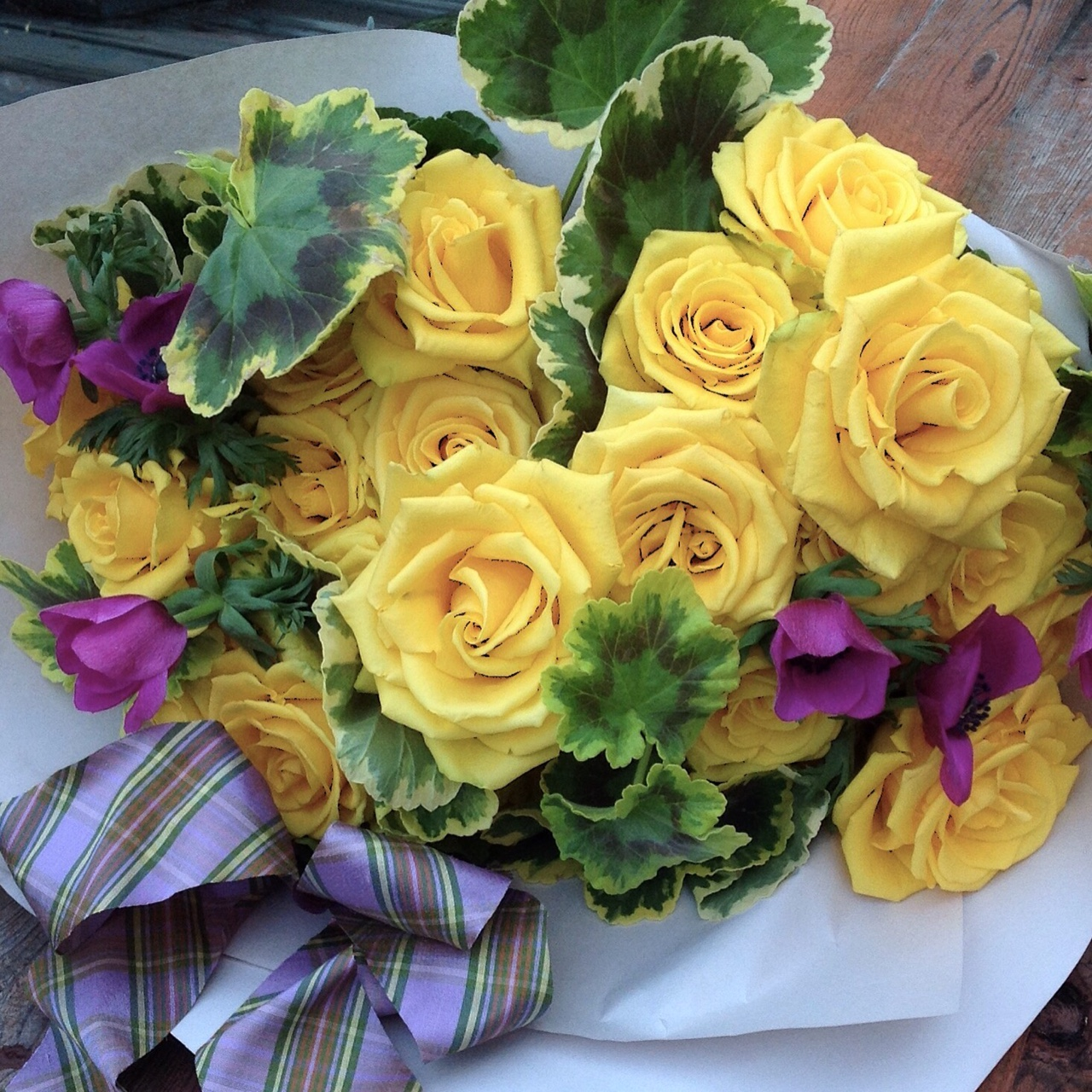 Big and impressive wrapped bouquets  starting at $150 (as shown $150)