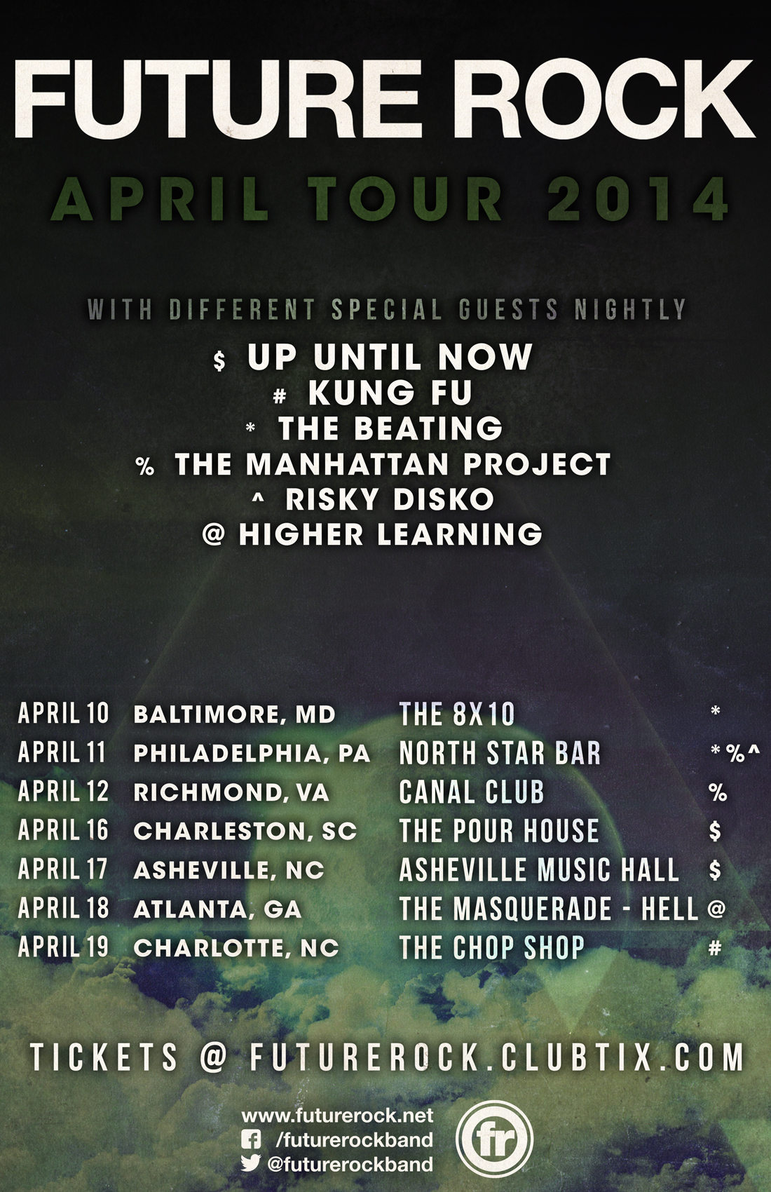 Future Rock April 2014 Tour