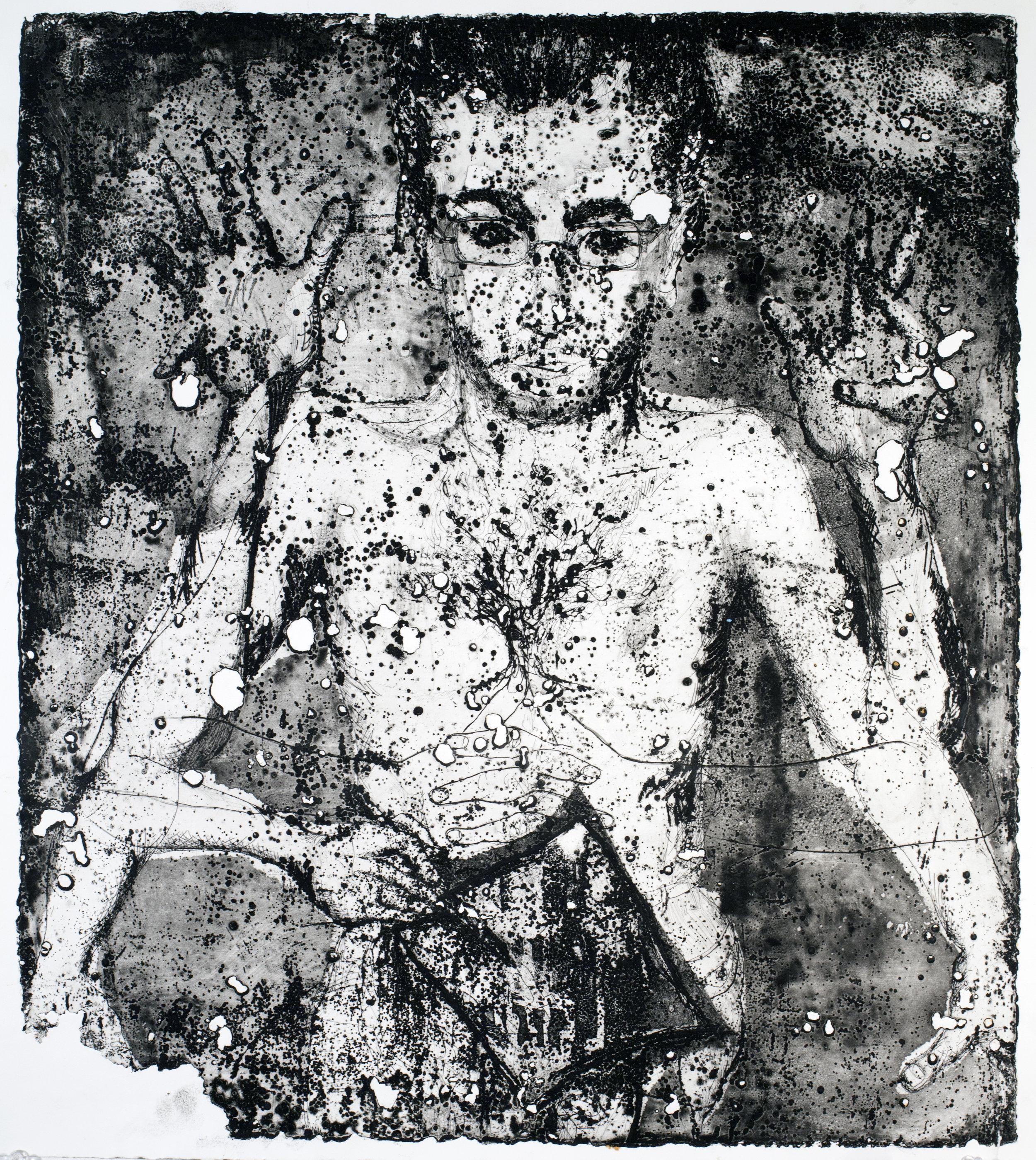 J.S.4. portrait series etching