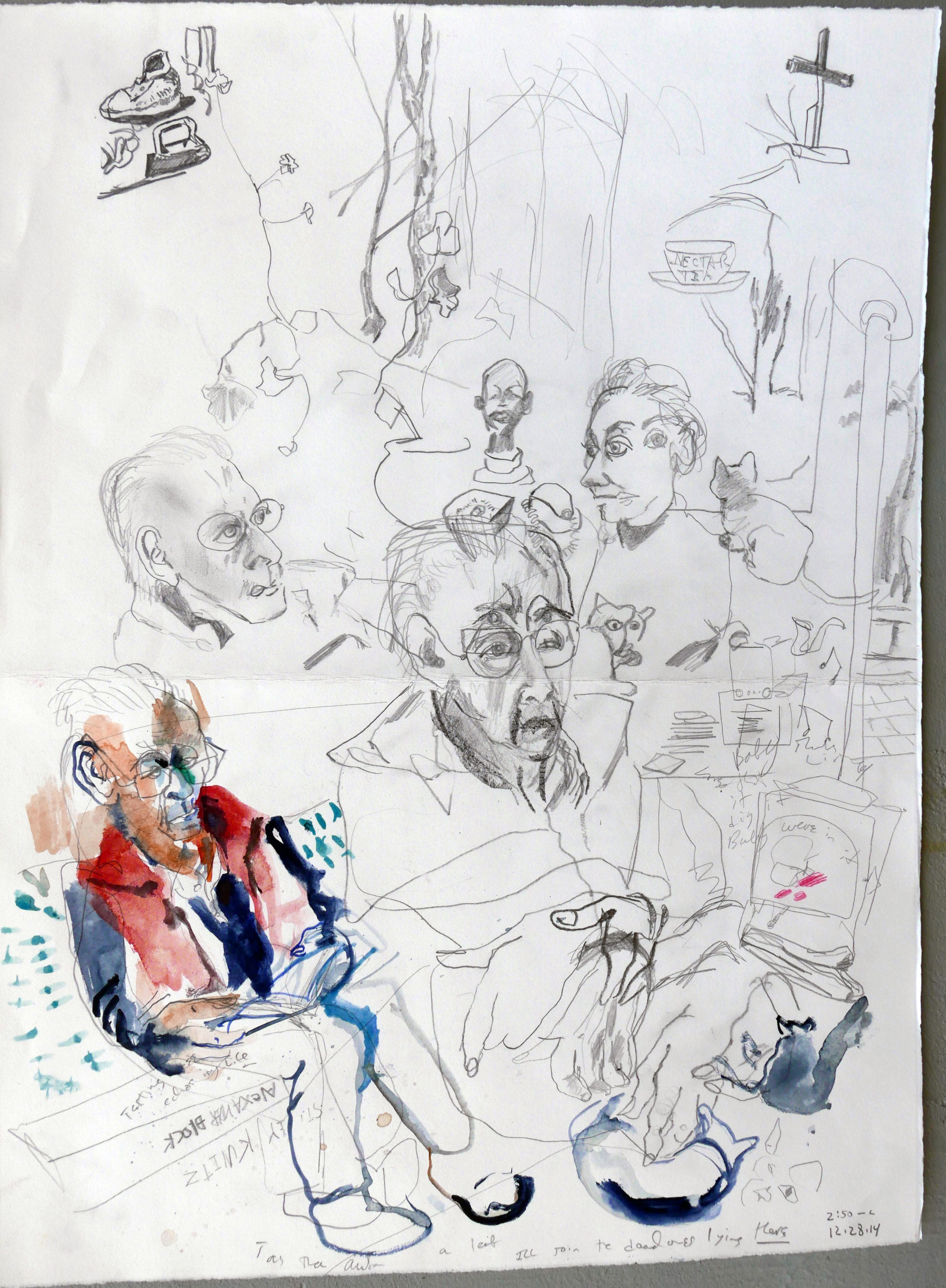 Jake Berthot, an afternoon, ( last drawing)