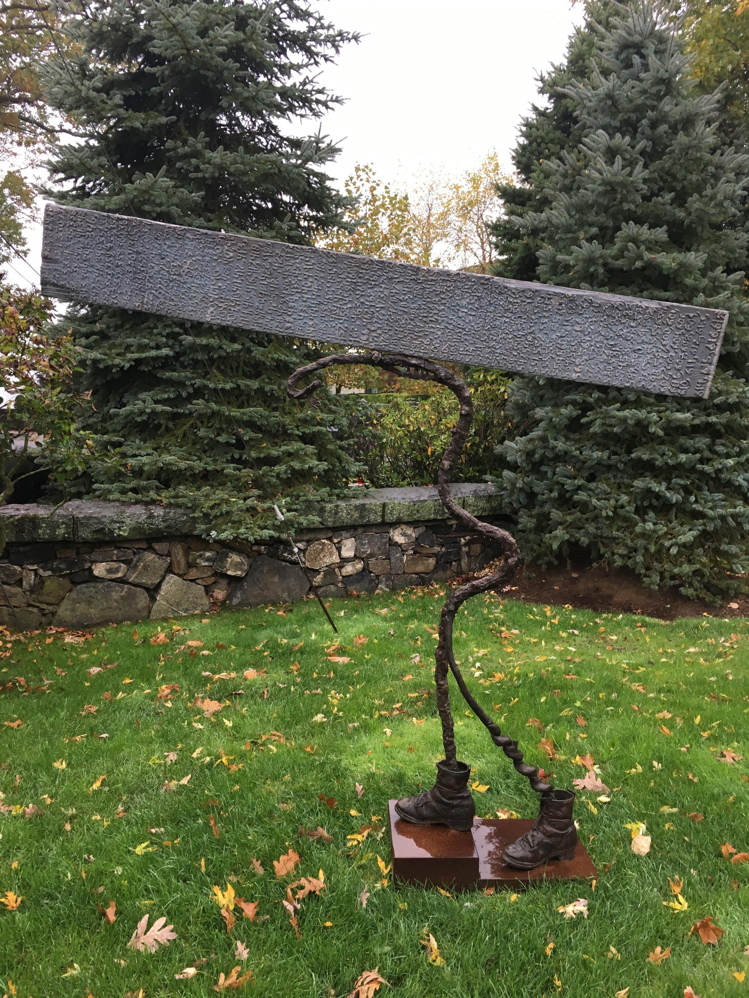 The walker,bronze,carbon steel, wood 1989