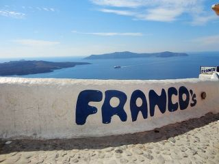Franco's is one of the most famous bars in Santorini