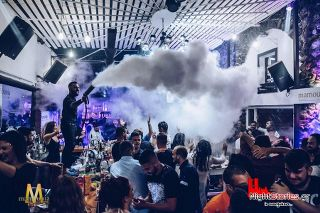 Crazy partying the greek way at Mamounia Club