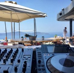 Cavo Tagoo Santorini. Haris G will be behind the decks.