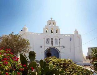 """Church """"Eisodia tis Theotokou"""" in Pyrgos Village, Santorini"""