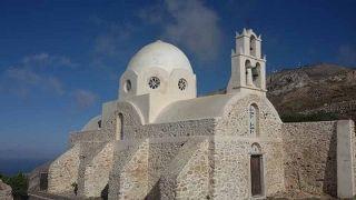Aghii Apostoli Church in Pyrgos, Santorini. It is worth the short walk.