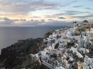 This is the view from the Castle of Oia