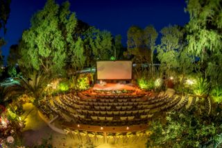 The beautiful open air cinema in Kamari. Photo credits: Open Air Cinema Santorini