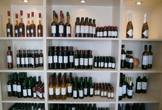 And a variety of Santorini wines..